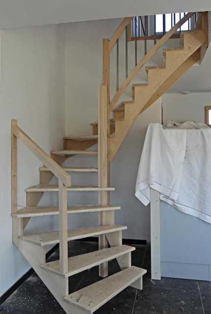 Escalier balustre inox sans contremarche