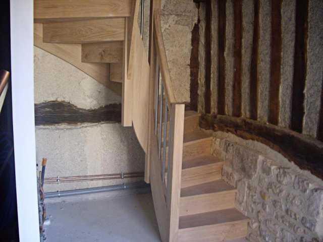 Escalier balustre tube