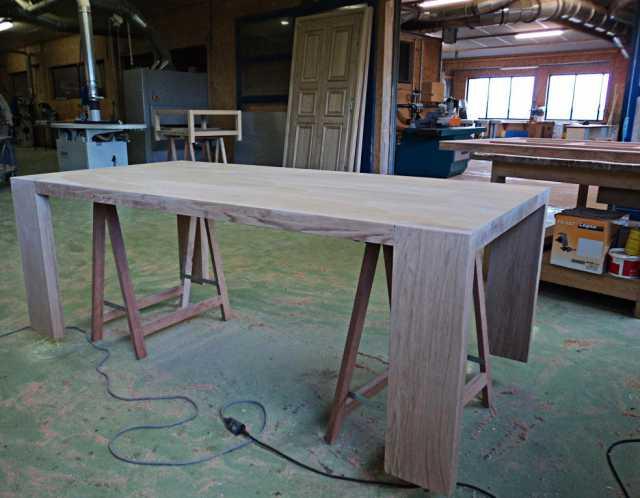 Fabrication table chêne moderne