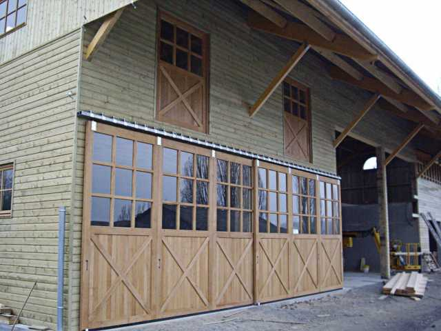 Fabrication portes coulissantes pour bâtiment