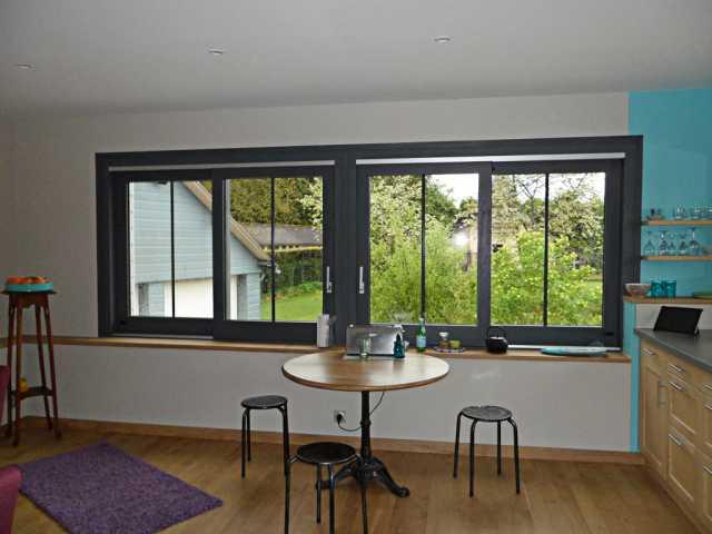 Fenêtre bois coulissante