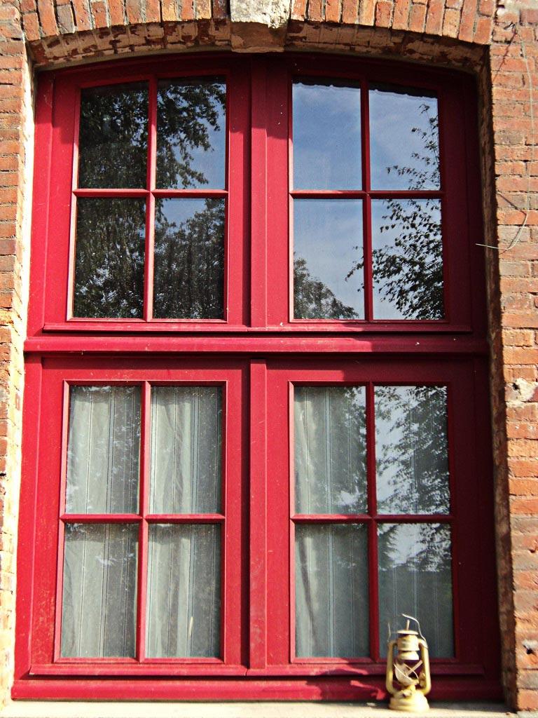 Fenêtre cintrée surbaissée petit carreaux